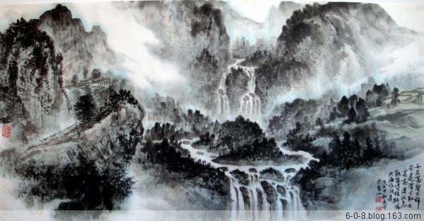 中国山水画家刘东方先生作品欣赏-《�f壑�D》