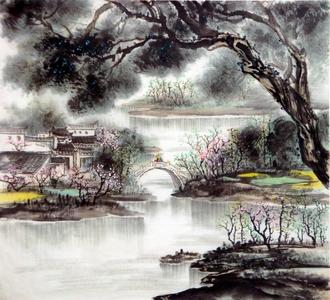 中国山水画家刘东方先生作品欣赏-《徽韵2》
