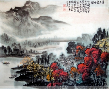 中国山水画家刘东方先生作品欣赏-《家在江南�水�g》