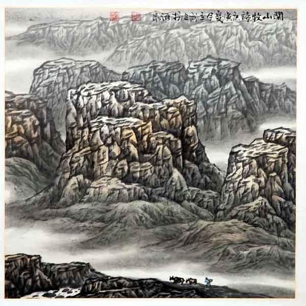 画家高立武先生作品选登-《关山牧归》