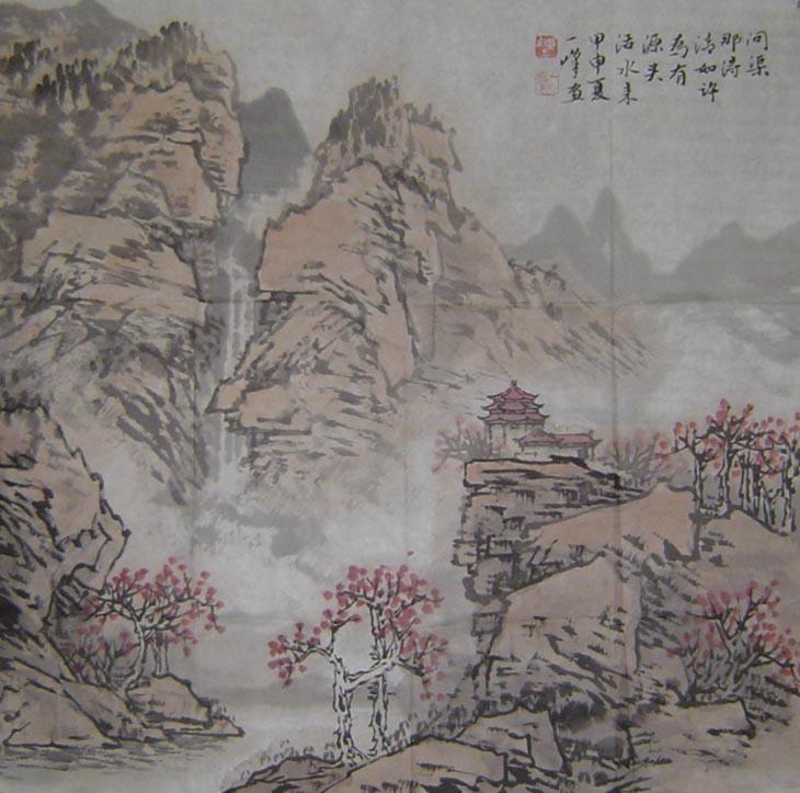 陈玉峰先生作品欣赏(中国山水画艺术网编辑)