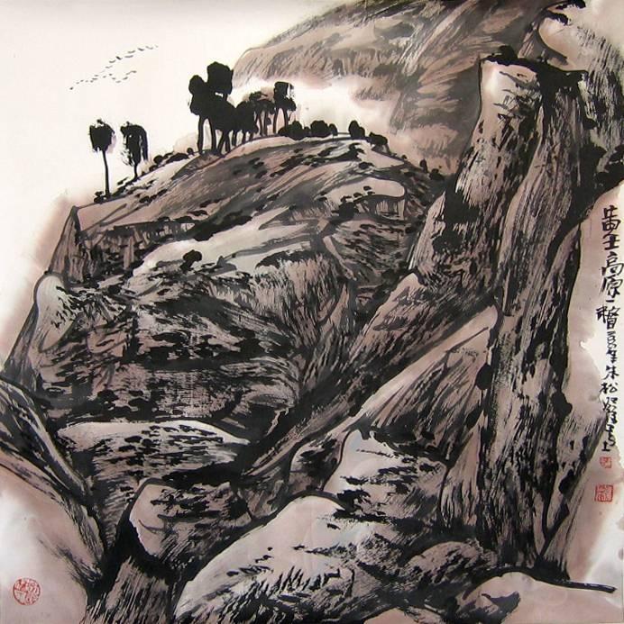 朱松发山水画作品欣赏(中国山水画艺术网)