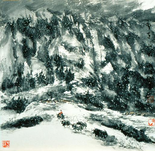 张卫平山水画作品(中国山水画艺术网)