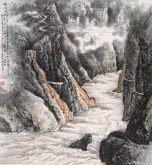 傅抱石山水画代表作_关山月-中国山水画艺术网