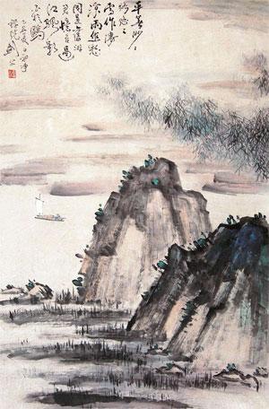 高剑父山水画作品(中国山水画艺术网编辑)