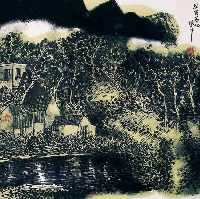 陈平山水画作品(中国山水画艺术网)