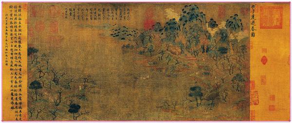 展子虔《游春图》(中国山水画艺术网编辑)
