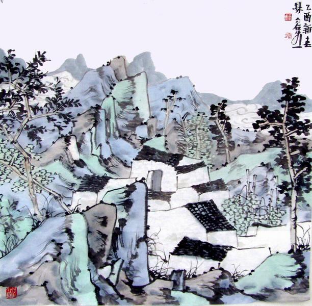 林容生先生作品选登(中国山水画艺术网编辑推荐)