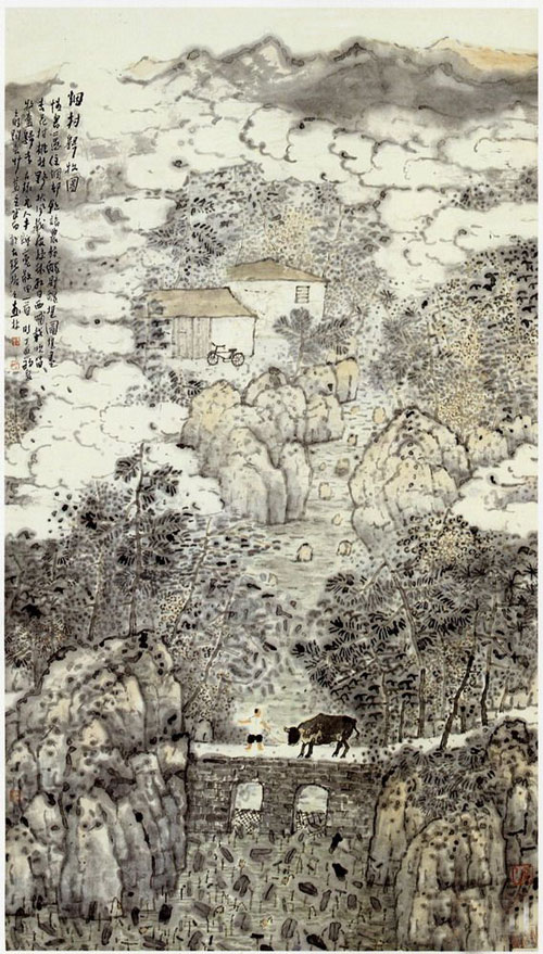 张捷先生作品欣赏(中国山水画艺术网编辑)