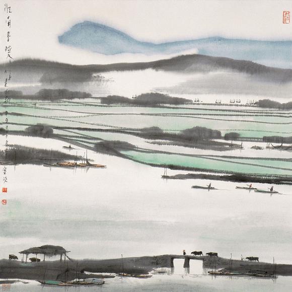杨明义先生作品选登(中国山水画艺术网编辑)
