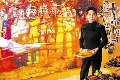 中国白描花鸟山水画