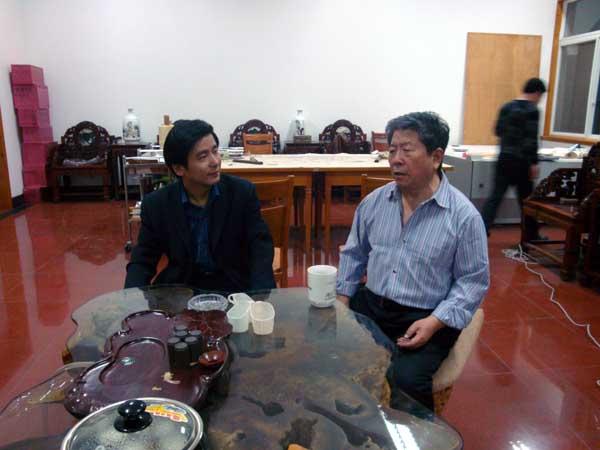左:刘东方 右:著名画家于志学