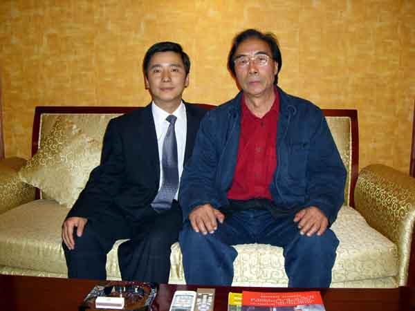 总编刘东方和著名画家宋雨桂先生