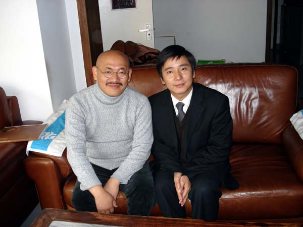 总编刘东方和著名山水画家陈平先生