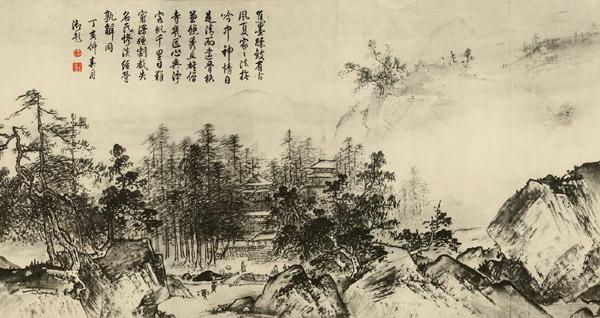 传统山水画有工笔山水画,采用精工细致的工笔画法;也有写.