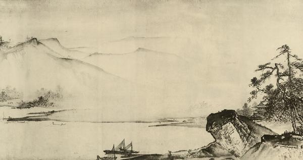 中国山水画历史名作赏析 夏圭 溪山清远卷
