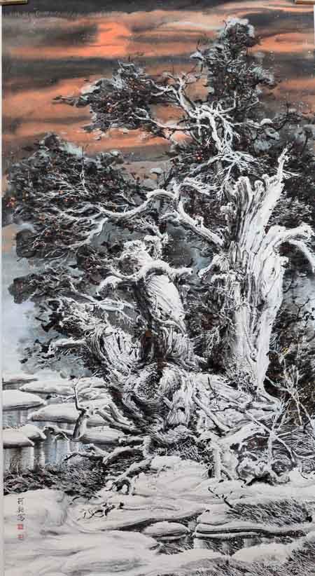 李珂钧 胡杨礼赞 198x98  2009年