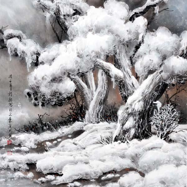 李珂钧 孔府古柏系列-1     2008年 68x68