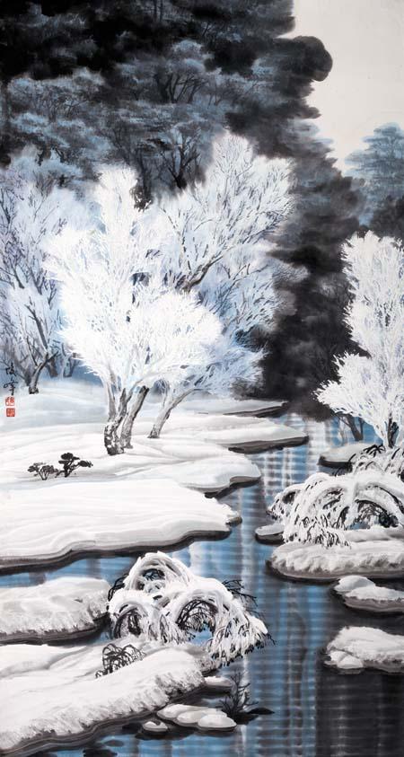 高俊峰    小河边176X96CM 2012年