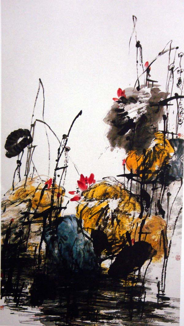 著名大写意花鸟画家张立辰先生作品欣赏