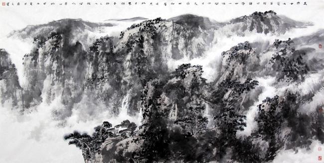 书画名家盛文运先生中国山水画作品欣赏
