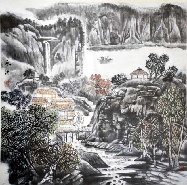 著名中国画画家翟承海作品欣赏