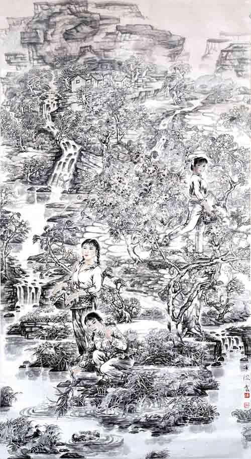 著名中国画画家翟承海作品欣赏:云淡风轻