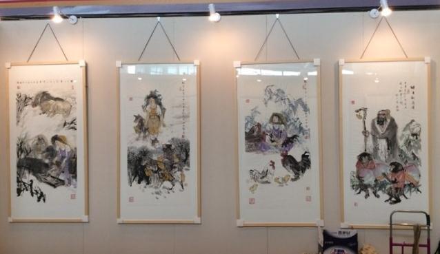 第六届名家书画精品博览会于志学十二生肖作品成亮点