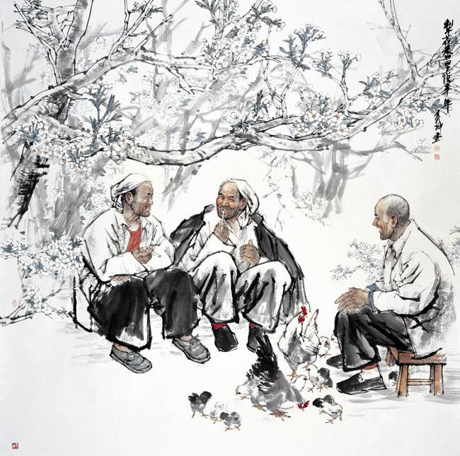 名人国画明星的妈妈-载23 杨秀坤中国画作品欣赏图片