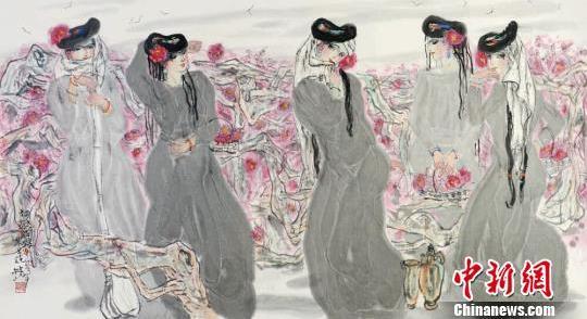 林峰中国水墨人物画展在中国美术馆开幕