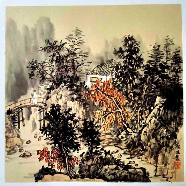 国画名家张佩50多幅作品在宁夏展出