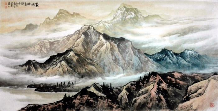 猴年马月:刘东方山水画作品欣赏-中国山水画艺术网图片
