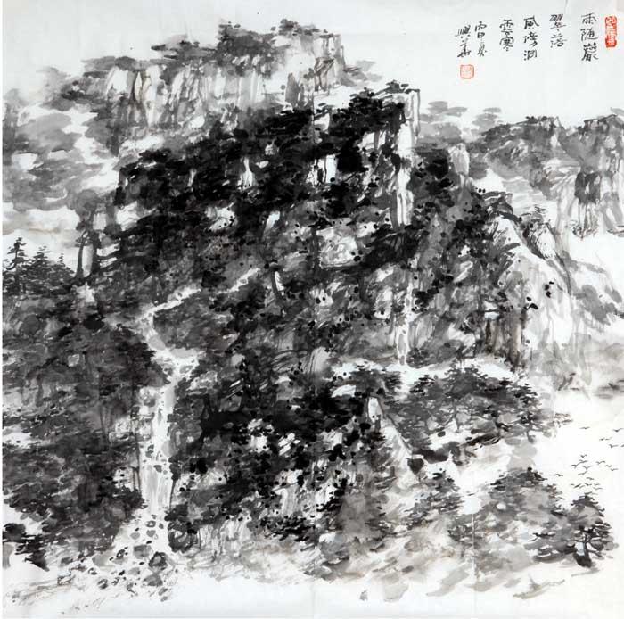 画家李兴华山水画作品欣赏7
