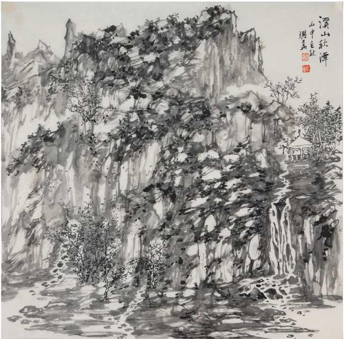 画家李兴华山水画作品欣赏10