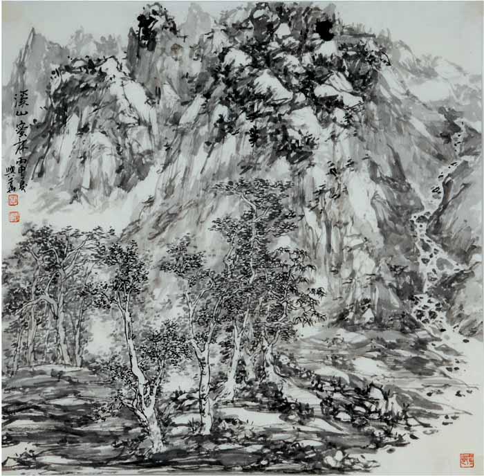 画家李兴华山水画作品欣赏8