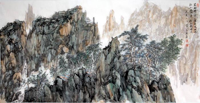 画家李兴华山水画作品欣赏