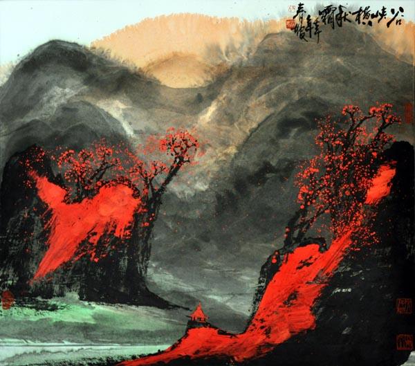 谷峡横秋霜壬午年68x68