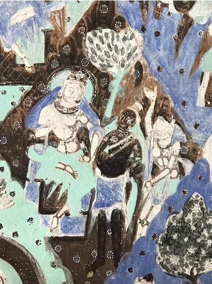 克孜尔千佛洞壁画    卢平摄