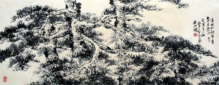 于峰山水画作品欣赏(中国山水画艺术网编辑)