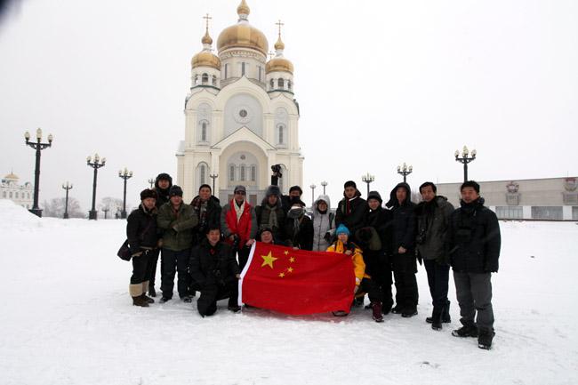 2012年于志学带领弟子在俄罗斯远东哈巴罗夫斯克写生