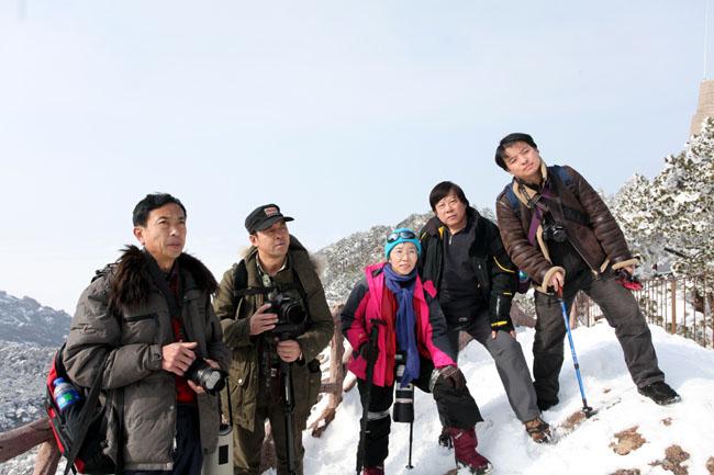 2013年冰雪画派在黄山写生