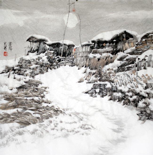 汤宽义  冬夜68x68cm 2009年