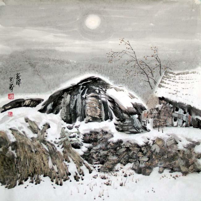 汤宽义  雪月 2008年 66x68