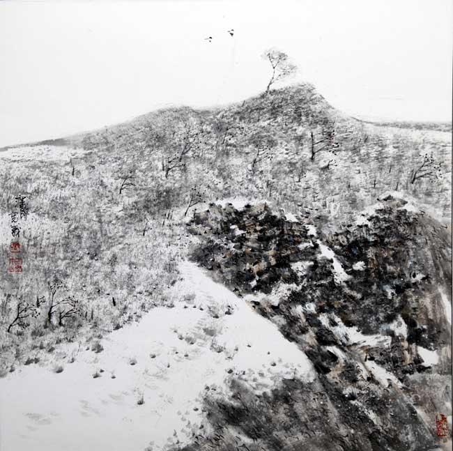 汤宽义 北国雪霁 68X68cm  2012年