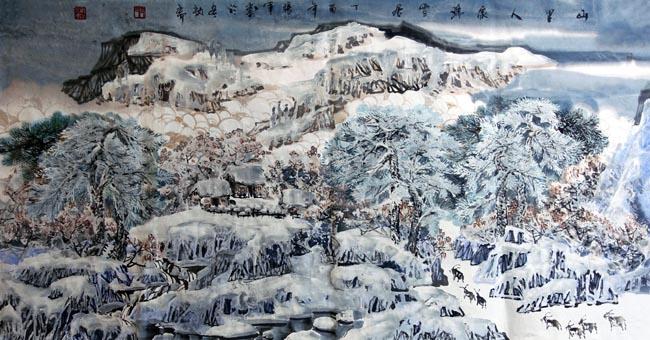 山里人家138x69(cm)2017年
