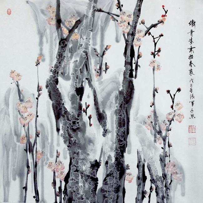 张军  傲骨迎爽斗风来  68X68cm   2012年