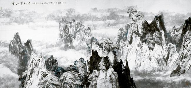 2002年  176x370      黄山雪�图