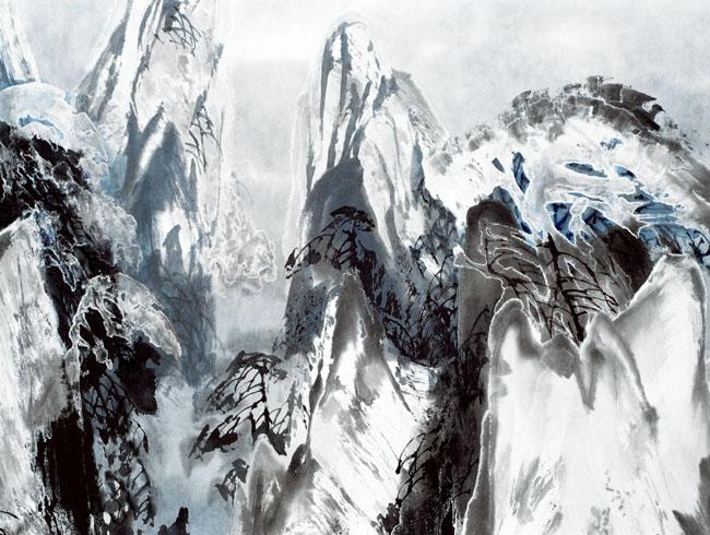 2002年黄山晓雪 局部