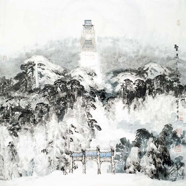 2004年  圣灵之光  120x120cm   黑龙江省博物馆收藏