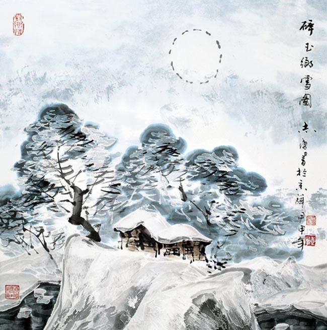 2004 碎玉乡雪图  68x68